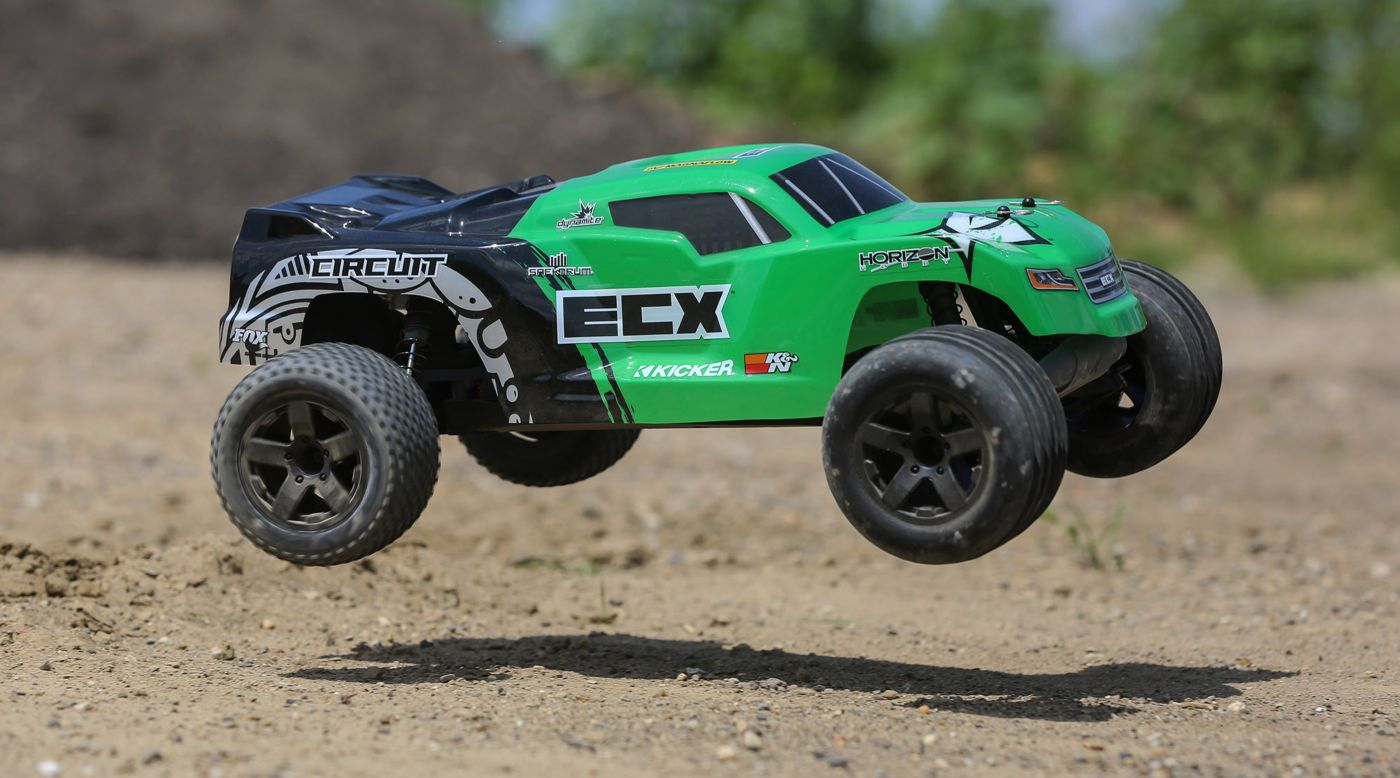 Image for 1/10 Circuit 2WD Stadium Truck Brushed RTR, Green from HorizonHobby