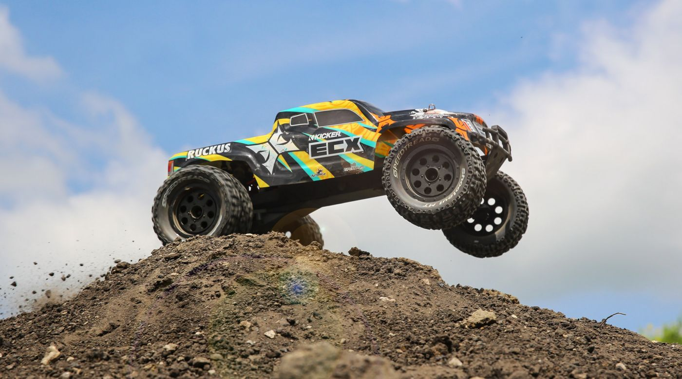 Image for 1/10 Ruckus 2WD Monster Truck Brushed RTR, Black/Yellow from HorizonHobby
