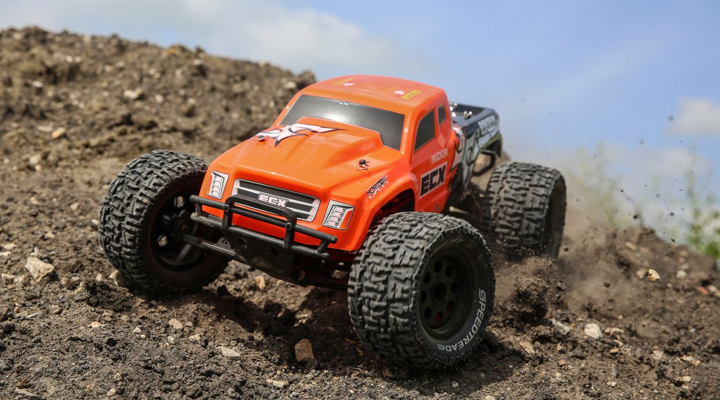 Grafik für 1/10 Ruckus 2WD Monster Truck Brushed RTR, Orange in Horizon Hobby