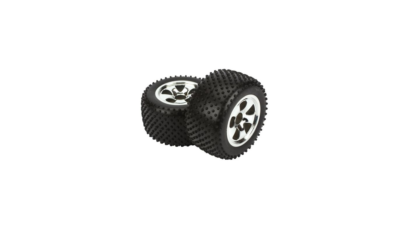 Image for Mounted Rear Tire (2), Chrome, Spike: Circuit from HorizonHobby