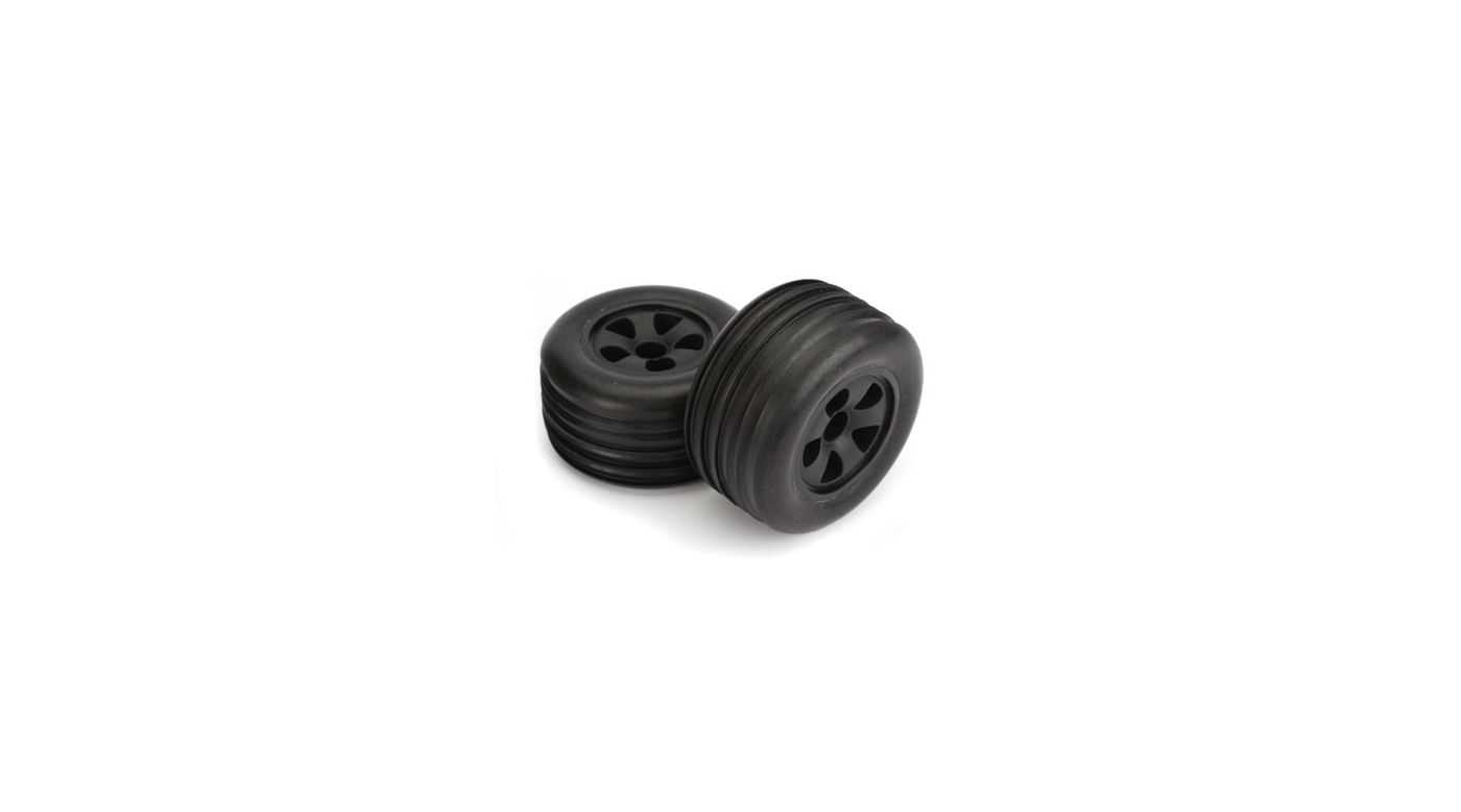 Image for Mounted  Front Tire (2), Black, Rib: Circuit from HorizonHobby