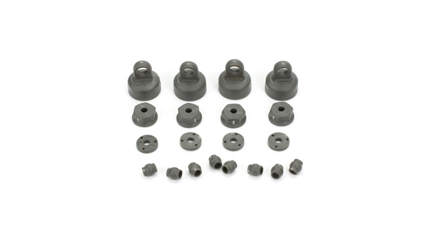 Image for Shock Cap, Piston, Pivot Ball Set: All ECX 1/10 2WD from HorizonHobby