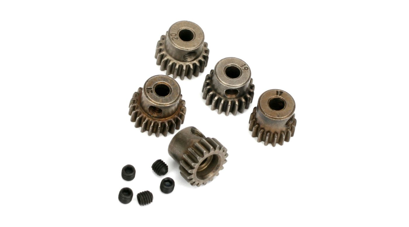 Image for 48P Pinion Gear Set: 17T. 18T, 19T, 20T, 21T from HorizonHobby
