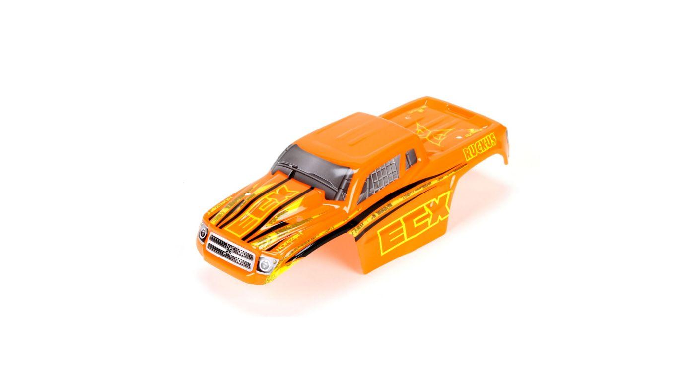 Image for Body Set, Decorated, Orange/Yellow: 1/18 4WD Ruckus from HorizonHobby