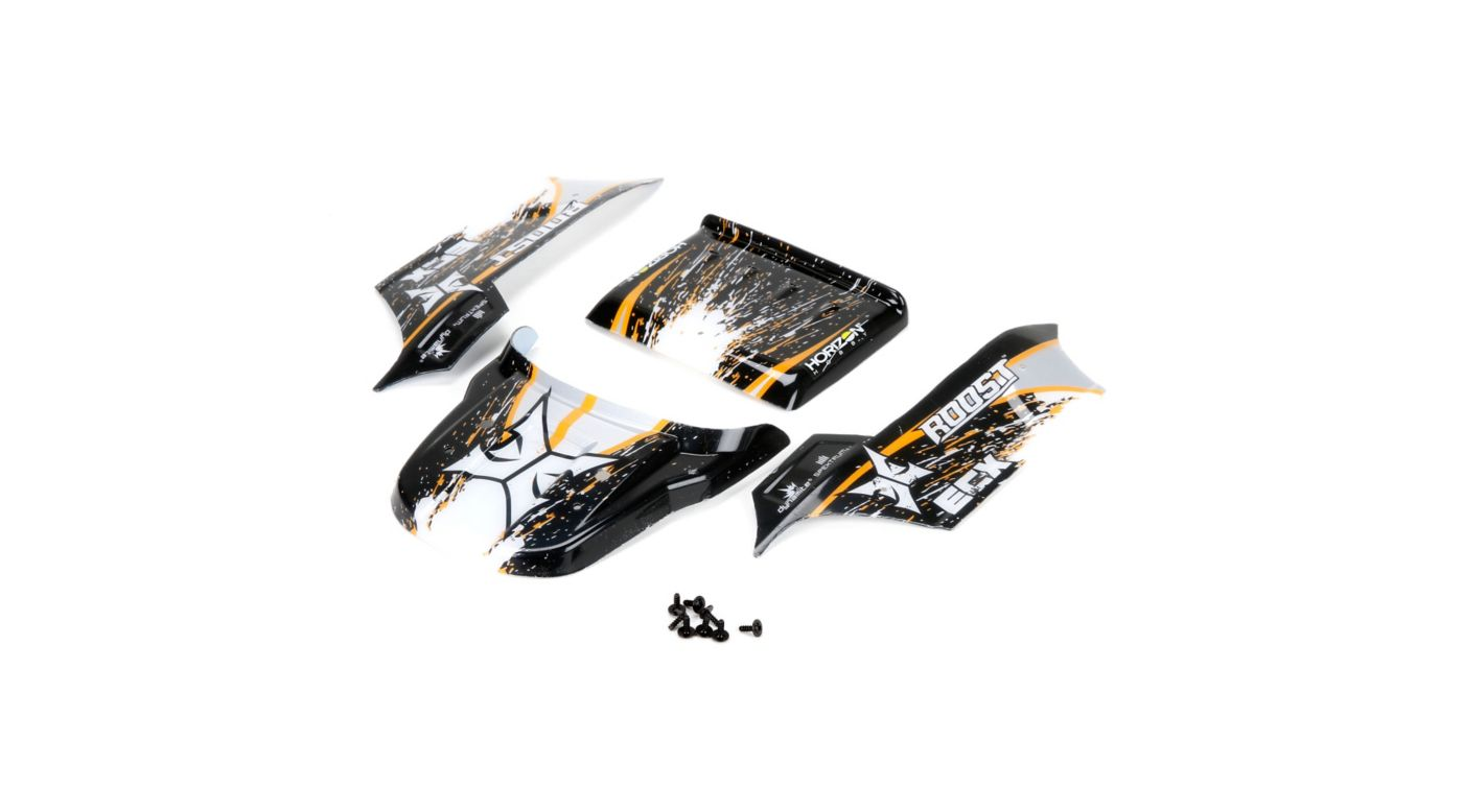 Image for Body, Black/Orange: 1/18 4WD Roost from HorizonHobby
