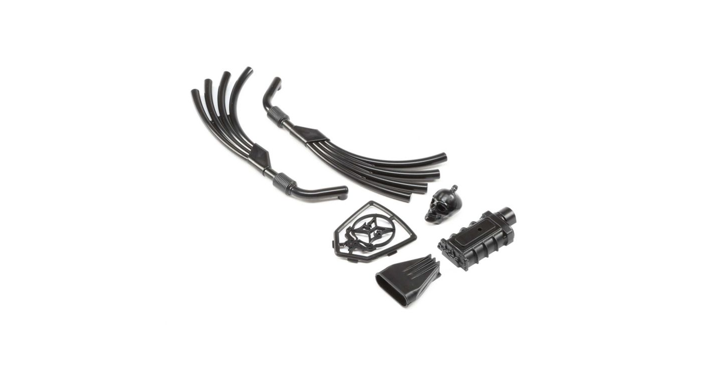Image for Motor, Exhaust and Grill Parts, Black: Doomsday from HorizonHobby