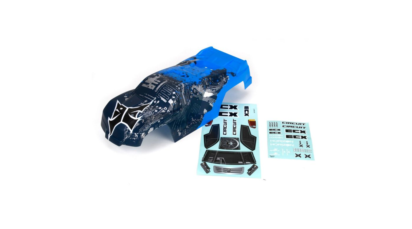 Image for Body, Blue/Silver: 1/10 2WD Circuit from HorizonHobby