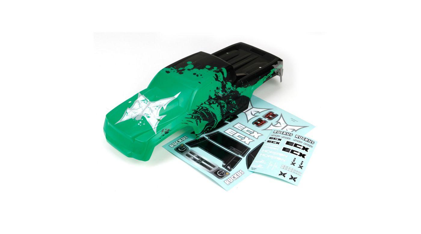 Image for Body, Black/Green: 1/10 2WD Ruckus from HorizonHobby