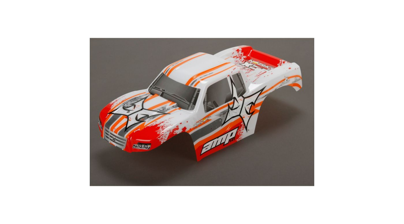 Image for Body, Painted, White/Orange: 1/10 AMP MT from HorizonHobby