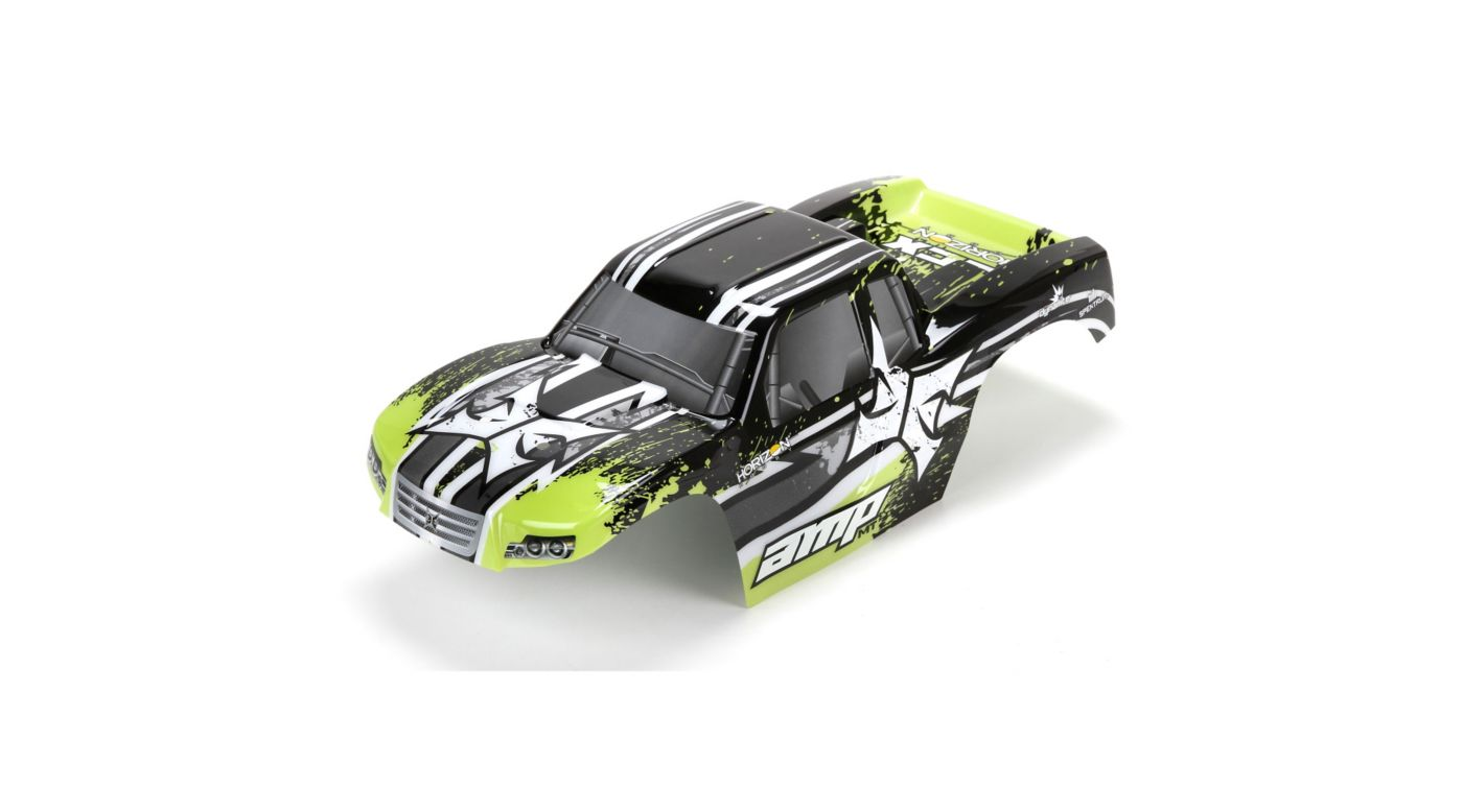 Image for Body, Painted, Black/Green: 1/10 AMP MT from HorizonHobby