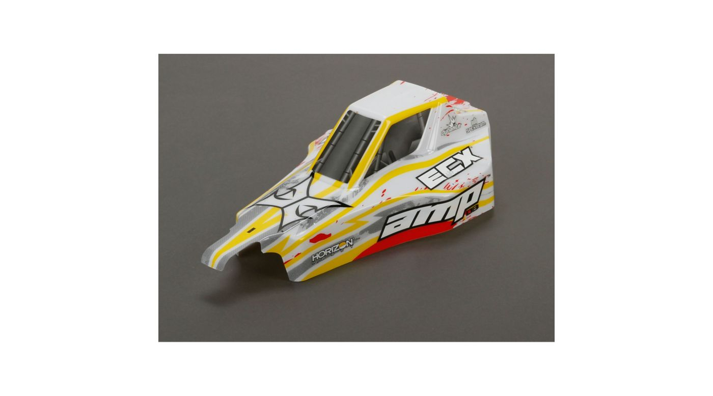Image for Body, Painted, White/Red: 1/10 AMP DB from HorizonHobby