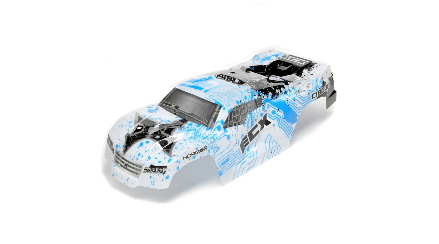 Image for Body, Painted, White/Blue: 1/10 2wd Circuit from HorizonHobby
