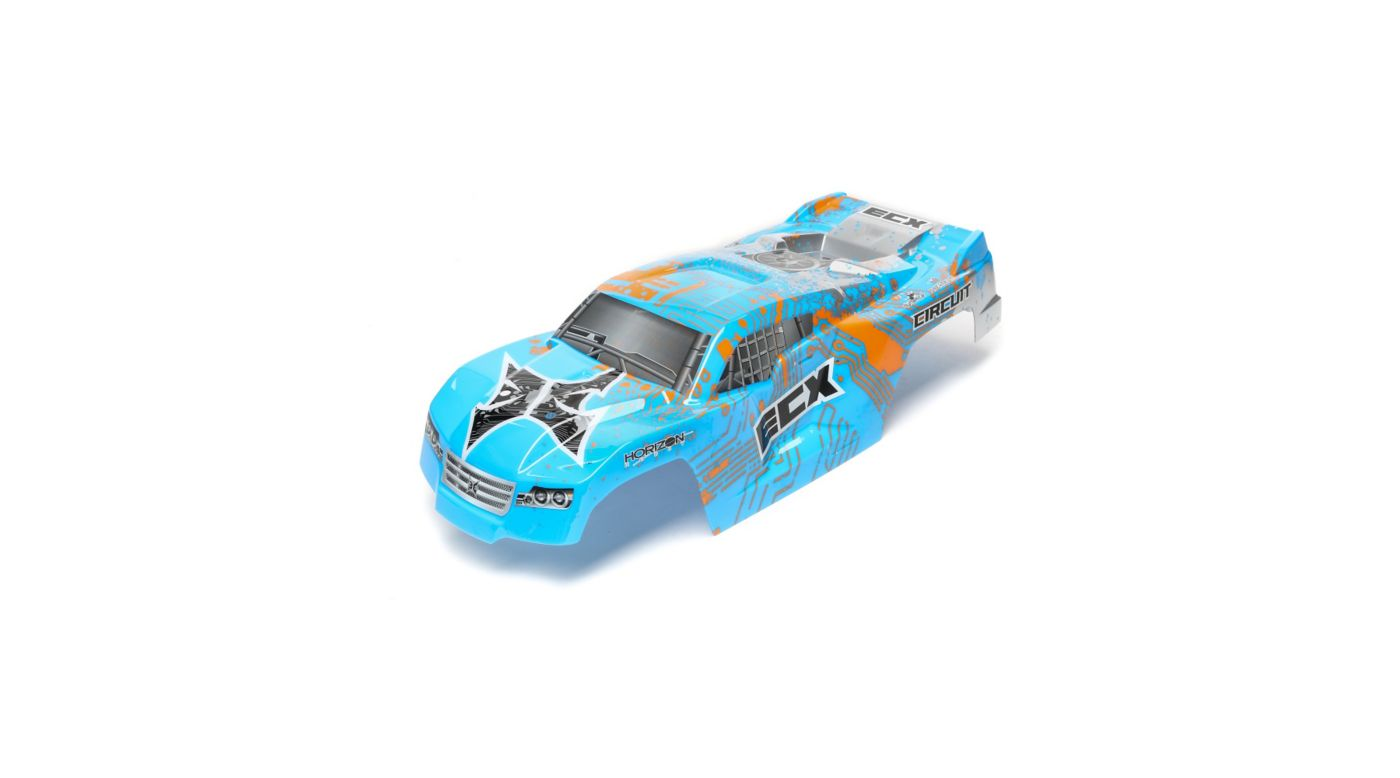 Image for Body, Painted, Blue/Orange: 1/10 2wd Circuit from HorizonHobby