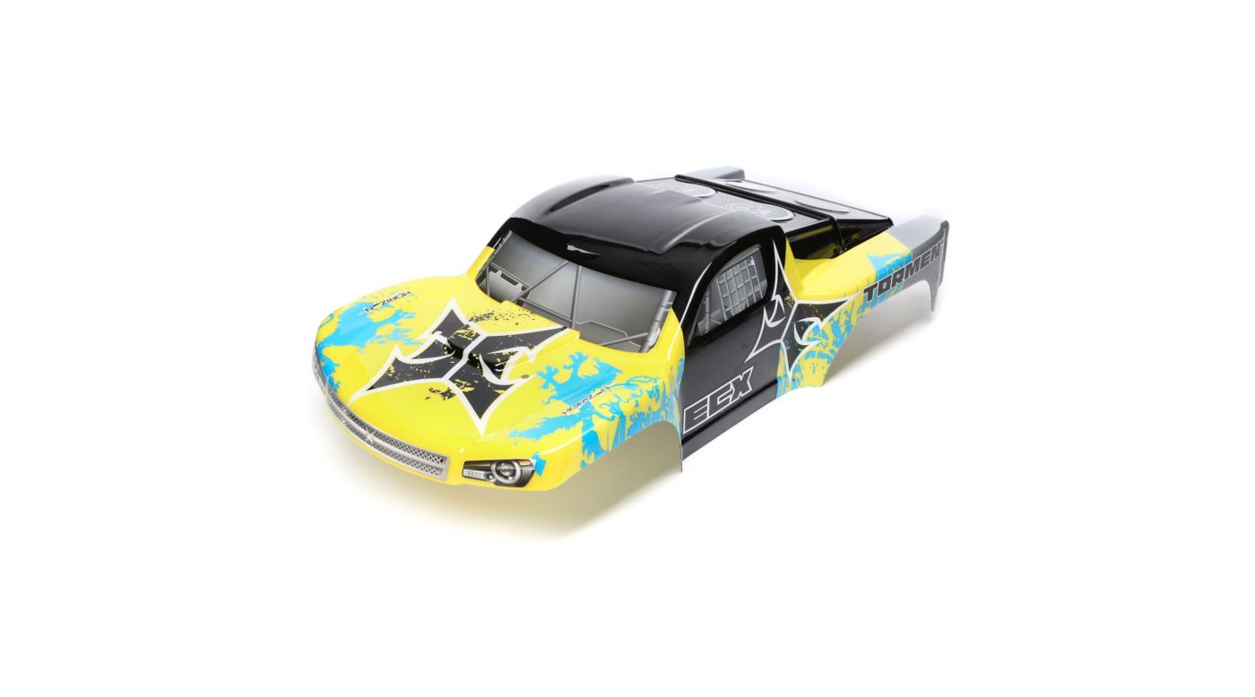 Image for 1/10 Painted Body, Yellow/Blue: 2wd Torment from HorizonHobby