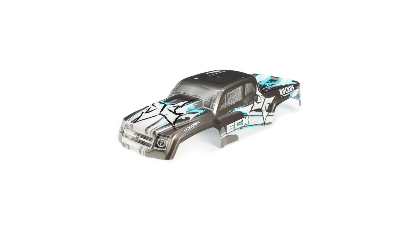 Image for 1/10 Painted Body, Gun Metal/Blue: 2WD and 4WD Ruckus from HorizonHobby