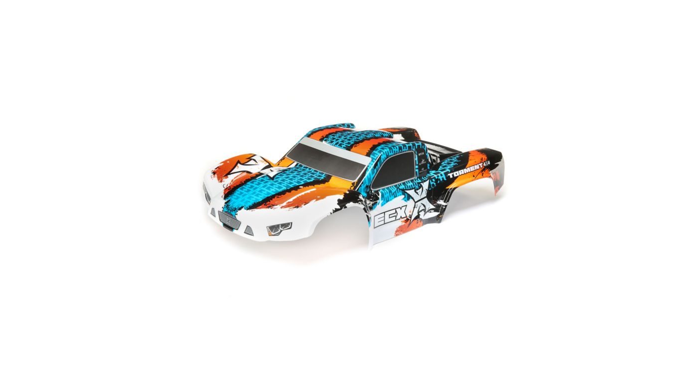 Image for 1/10 Painted Body, Orange/Blue: 4WD Torment from HorizonHobby