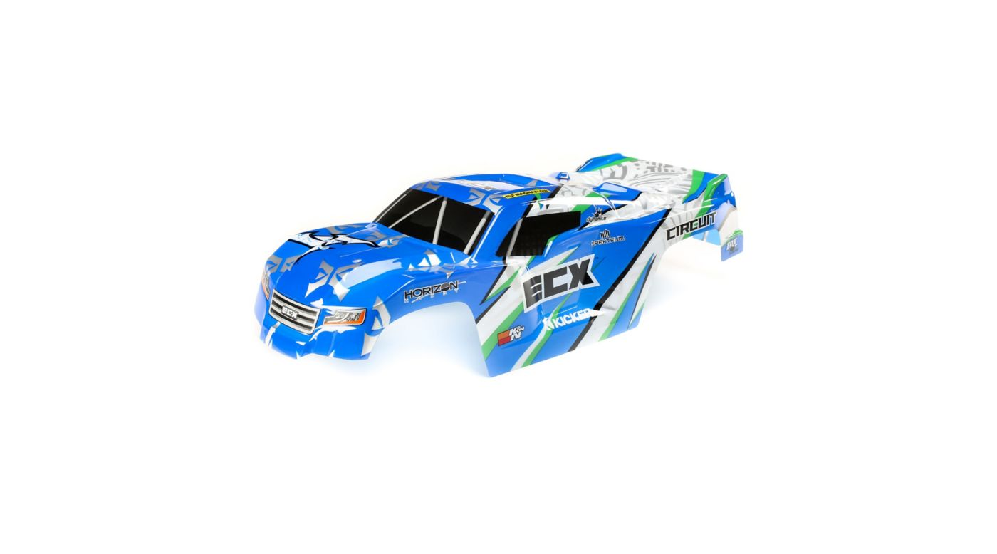 Image for Body, Blue/White: 1/10 2WD Circuit from HorizonHobby
