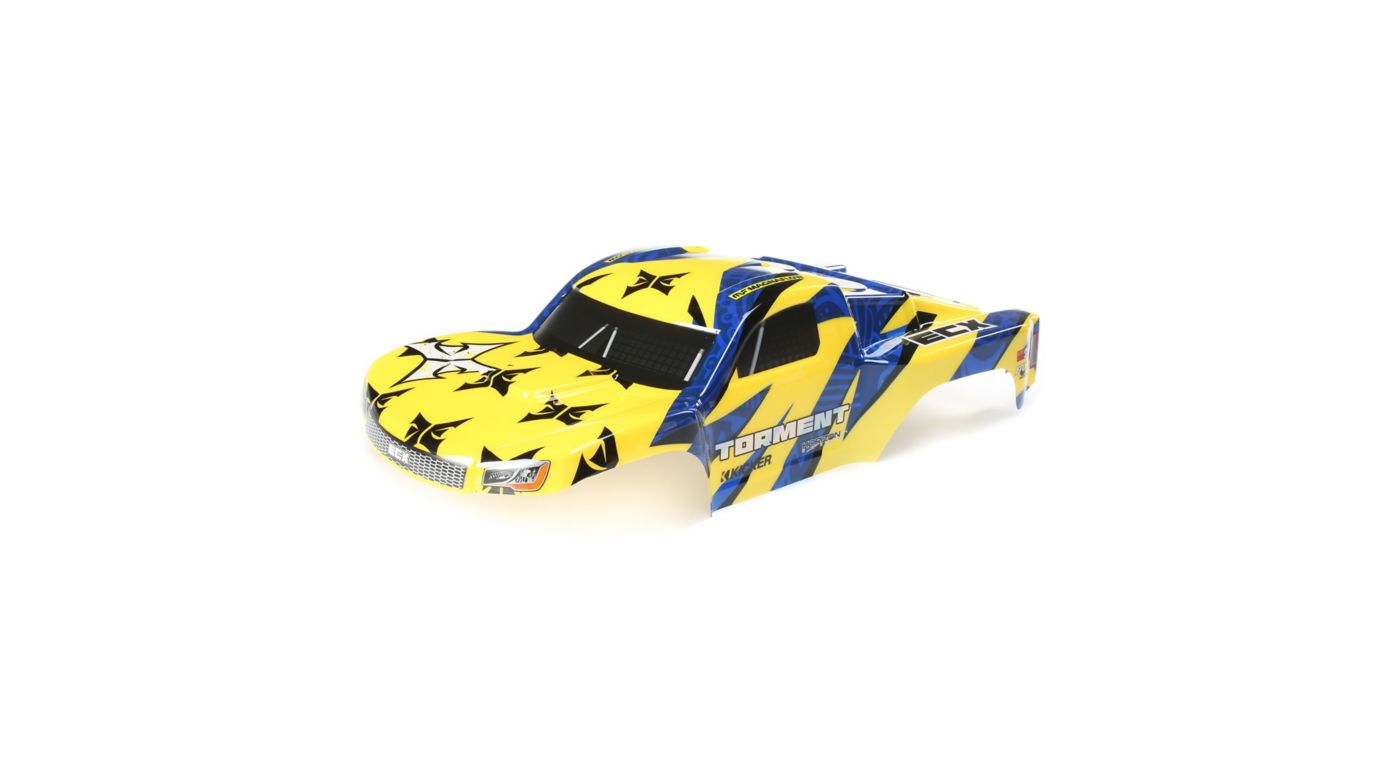 Image for 1/10 Painted Body, Yellow/Blue: 1/10 2WD Torment from HorizonHobby