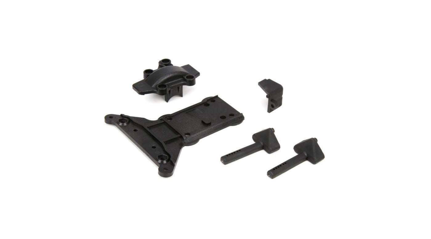 Image for Gear Cover/Kick Plate/Battery Mounts: 1/10 4WD All from HorizonHobby