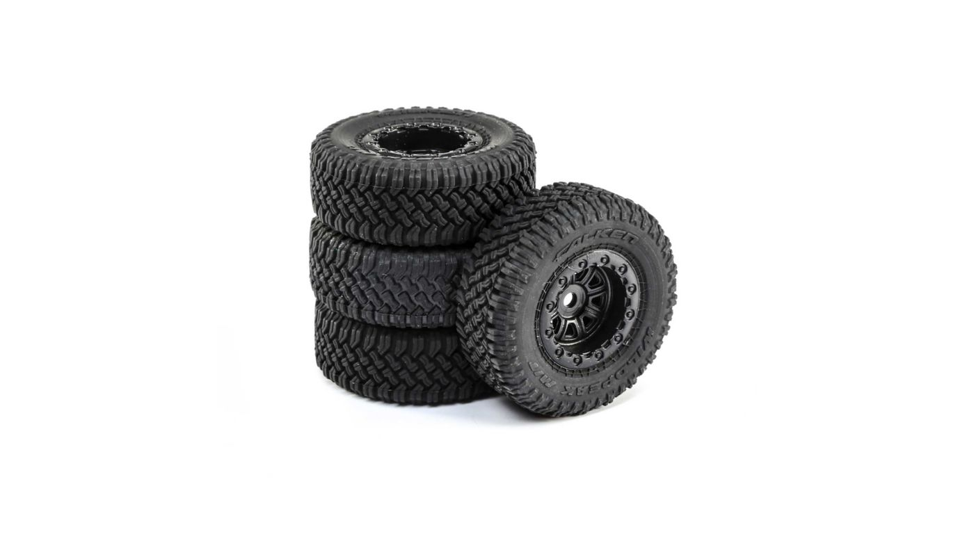 Image for Premount Tires (4): 1/24 Barrage from HorizonHobby