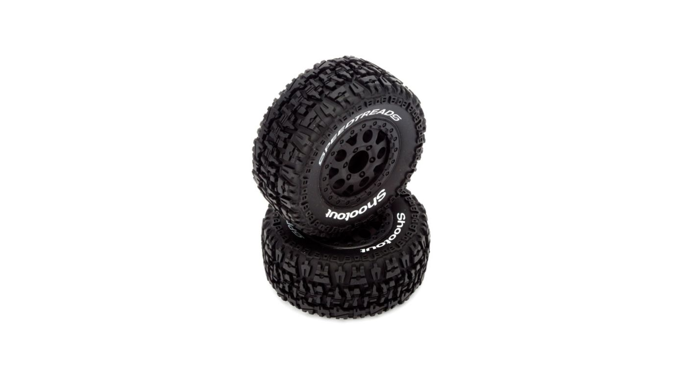 Image for Front/Rear Wheel and Tire, Premount, Black (2): 1/10 2WD/4WD Torment from HorizonHobby