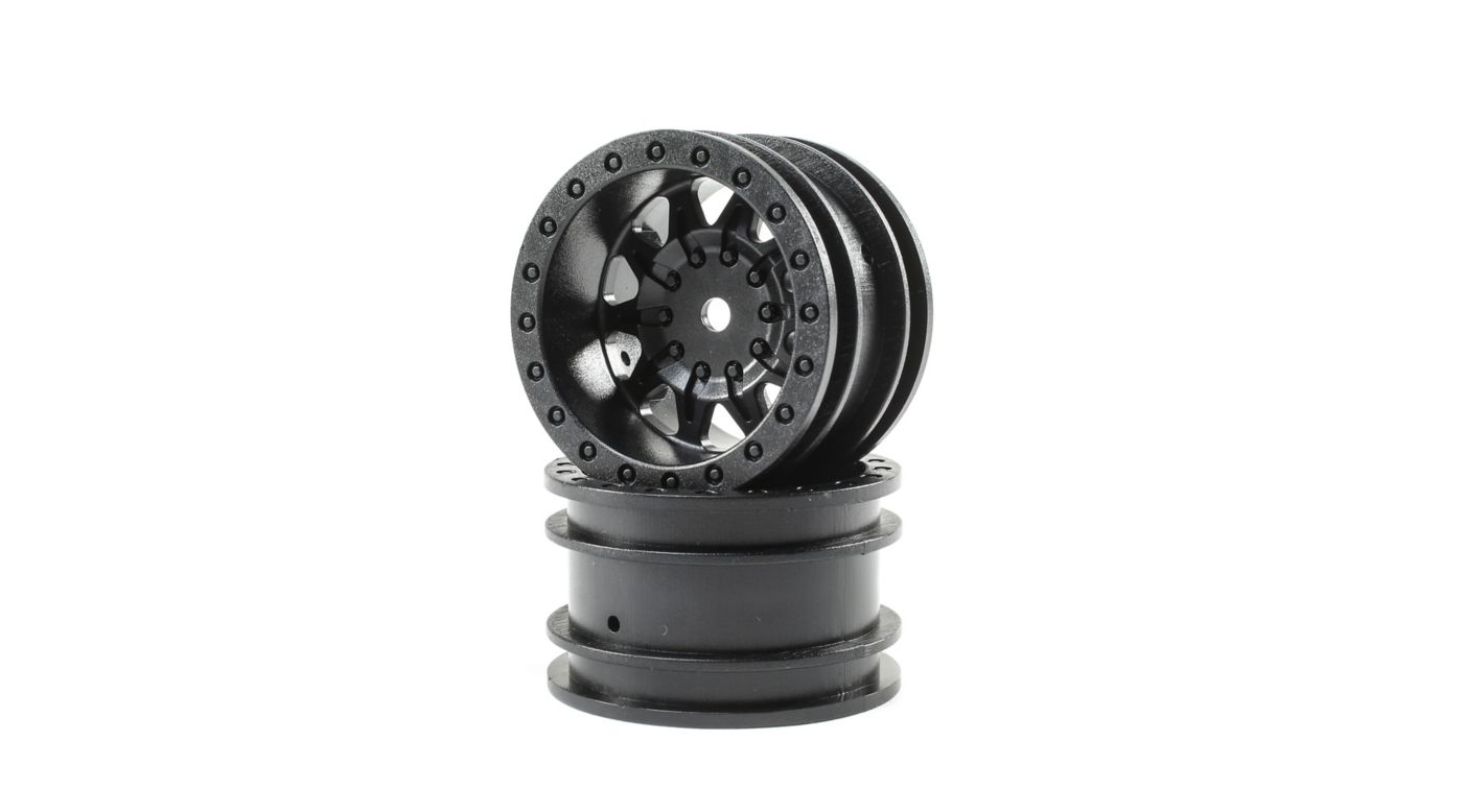 Image for 1.55 Wheels, Black (2): Barrage 2.0 from HorizonHobby