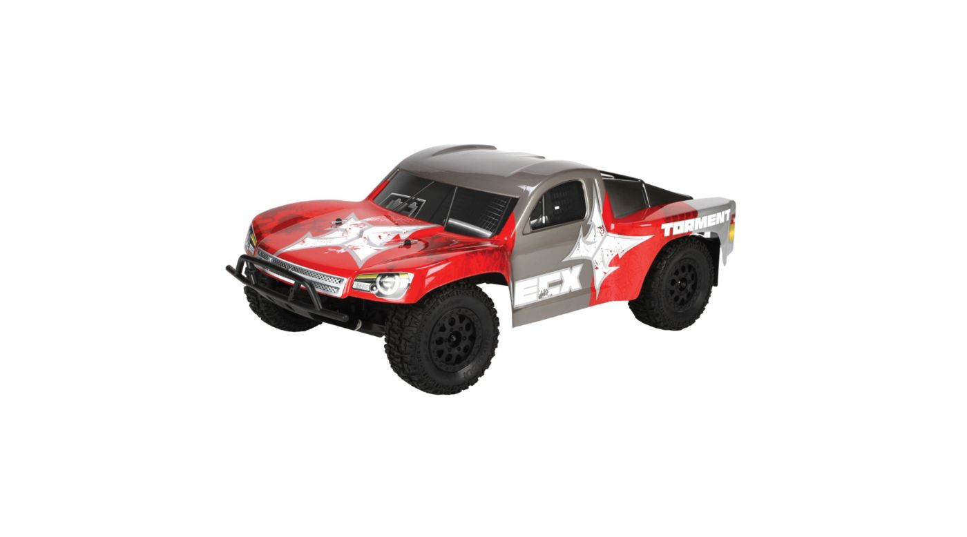 Image for Torment 1/10th Short Course Truck 2.4GHz RTR, Red/Grey from HorizonHobby