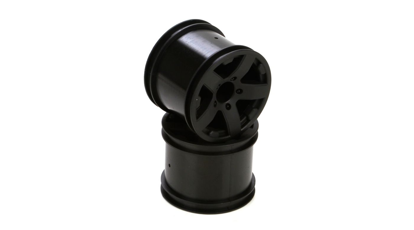 Image for Wheel, Front/Rear, Black (2): 1/10 2WD Circuit from HorizonHobby