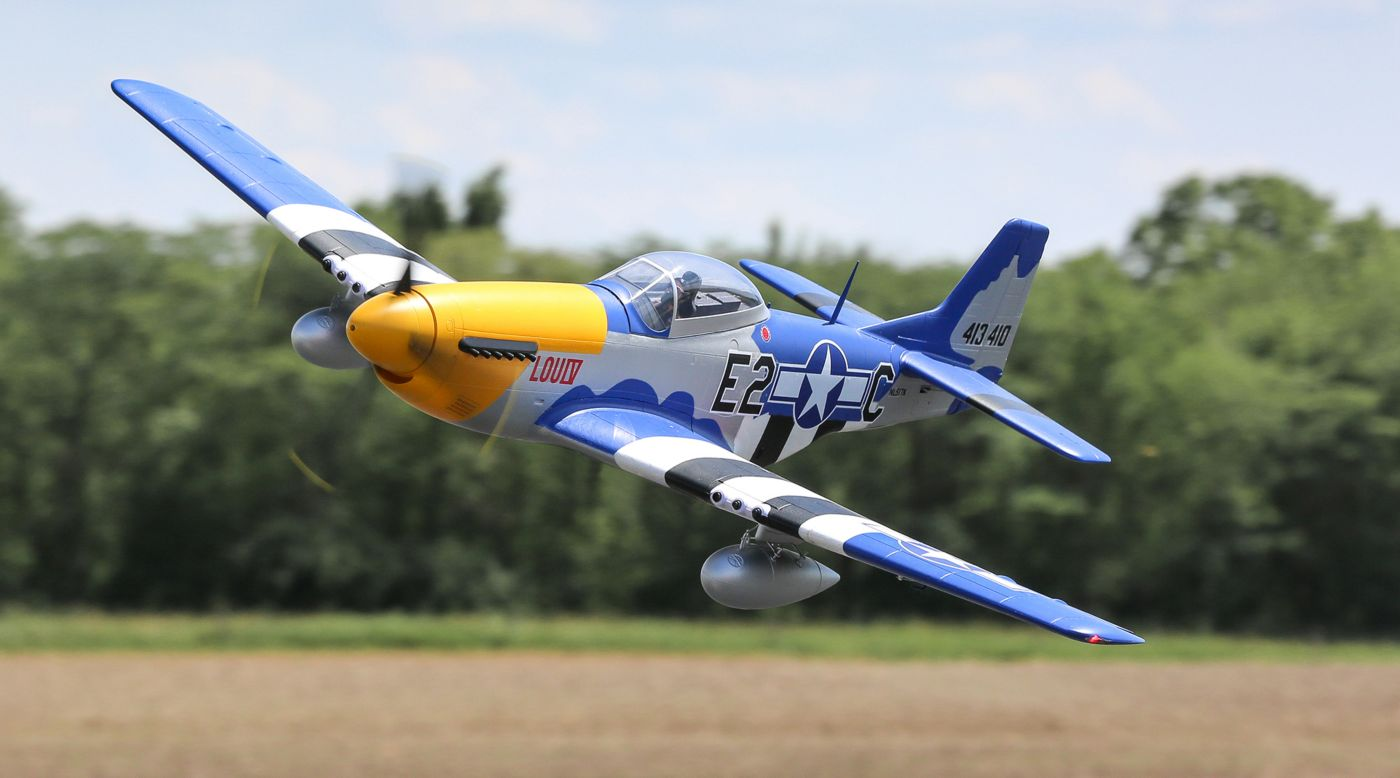 Image for P-51D Mustang 1.5m BNF Basic with Smart from HorizonHobby