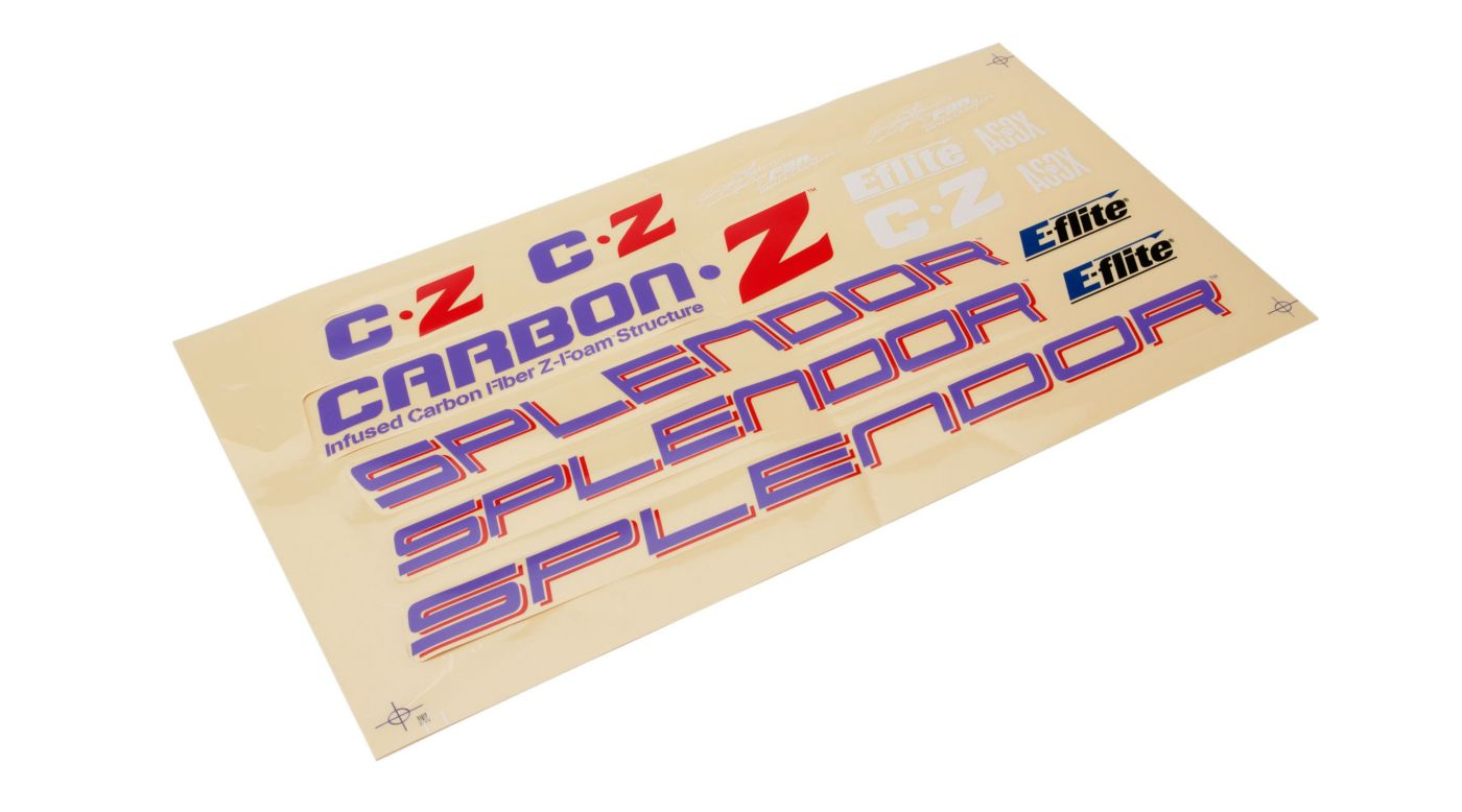 Image for Decal Set: Carbon-Z Splendor from HorizonHobby
