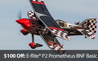 E-flite Carbon-Z P2 Prometheus Biplane Bipe BNF Bind N Fly