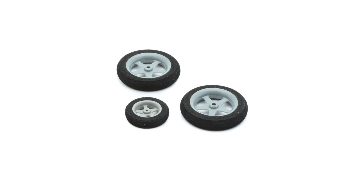 Image for Wheel Set, 45mm (2) 30mm (1): Slick 3D 480 from HorizonHobby