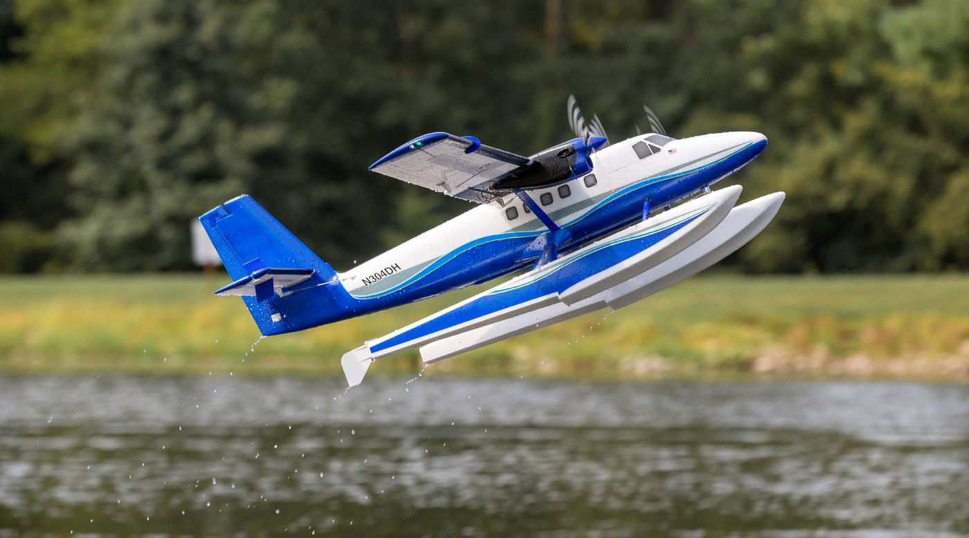 Image for Twin Otter 1.2m BNF Basic with AS3X and SAFE, includes Floats from HorizonHobby