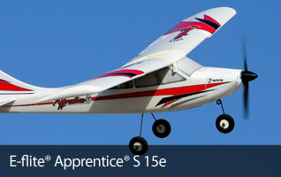 E-flite Apprentice S 15e Electric Trainer SAFE BNF RTF