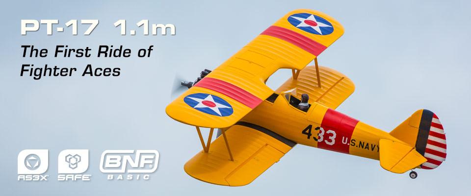 E-flite PT-17 BNF Basic