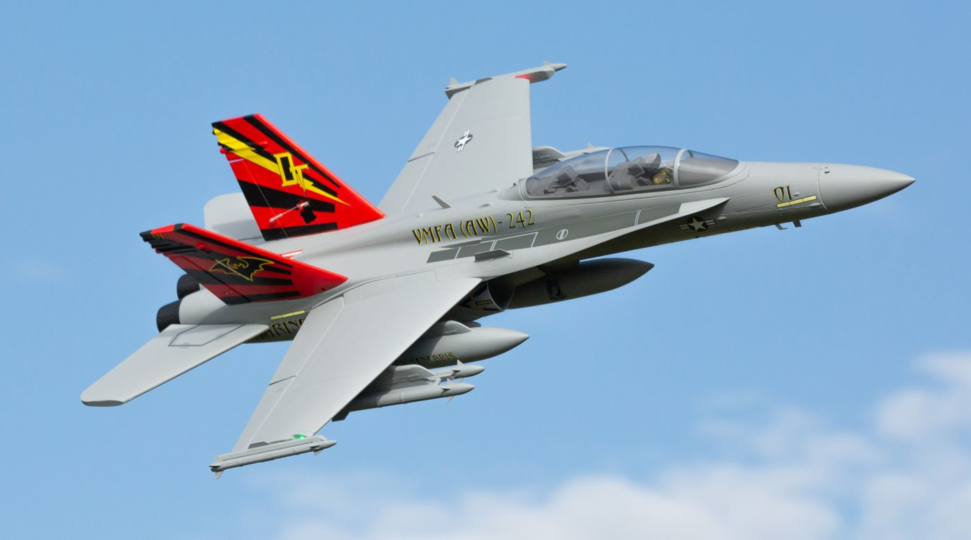 Image for F-18 Hornet 80mm EDF BNF Basic with AS3X and SAFE Select, 980mm from HorizonHobby