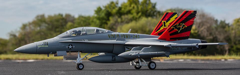 E-flite® F-18 Hornet 80mm EDF Plug-N-Play®