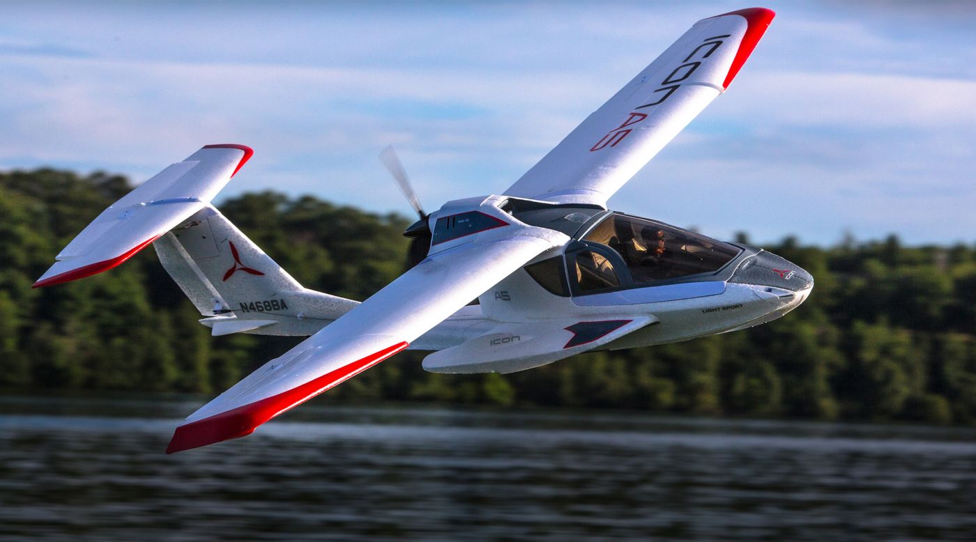 Image for ICON A5 1.3m BNF Basic with AS3X and SAFE Select from HorizonHobby