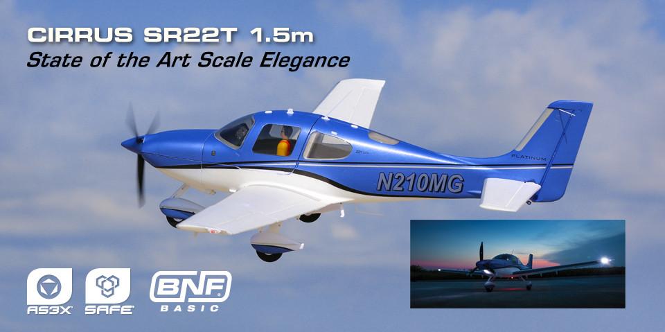 E-flite Cirrus SR22T BNF Basic