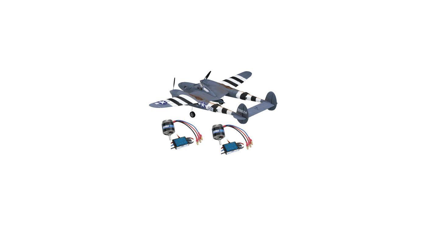 Image for P-38/2 Motors/2 ESC Combo from HorizonHobby
