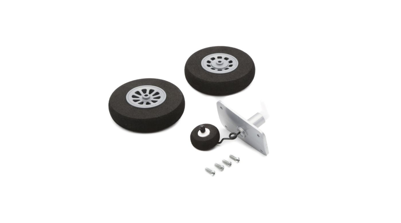 Image for Wheel Set, Mains 65mm, Tail 28mm: P-51D from HorizonHobby