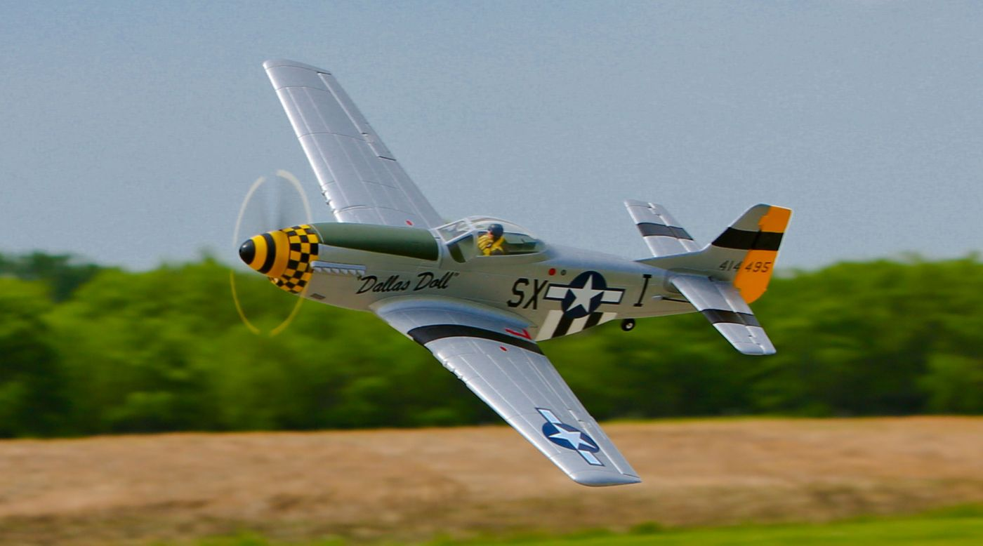 Image for P-51D Mustang BNF Basic with AS3X Technology from HorizonHobby