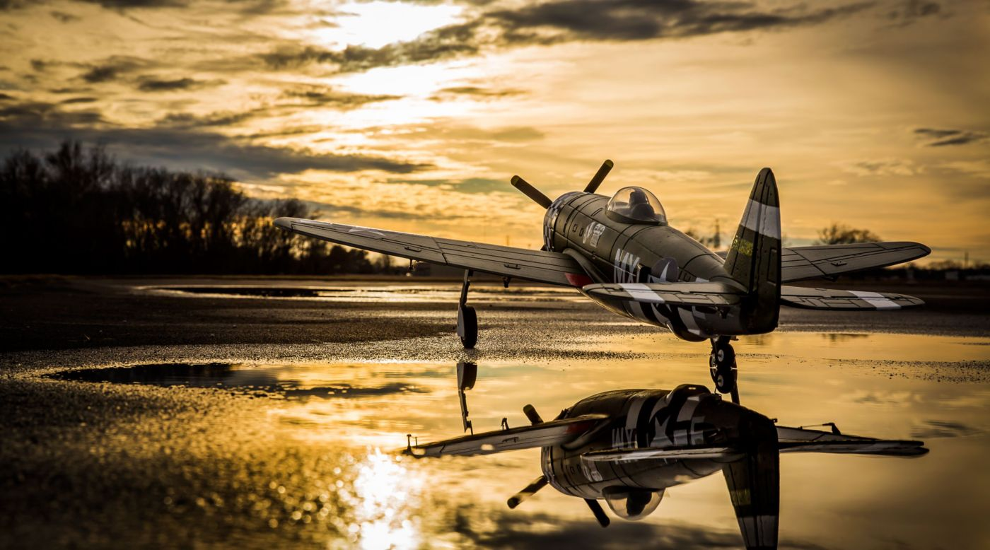 Image for P-47D Thunderbolt 1.1m BNF Basic with AS3X from HorizonHobby
