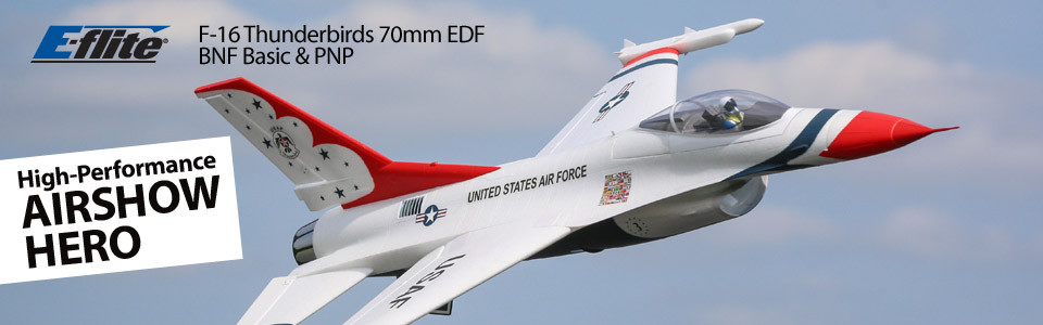 F-16 Thunderbird 70mm EDF BNF Basic