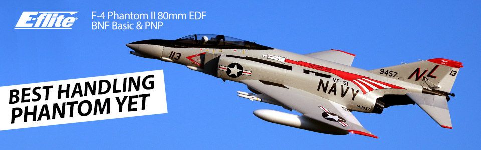 E-flite® F-4 Phantom II 80mm EDF