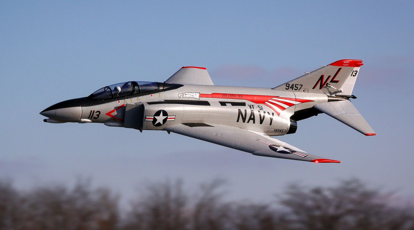 Image for F-4 Phantom II 80mm EDF BNF Basic with AS3X & SAFE Select from HorizonHobby