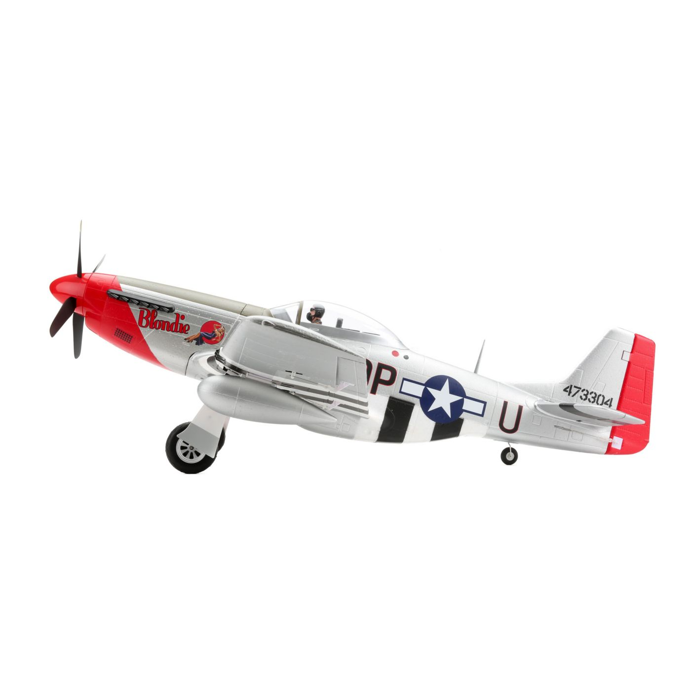 ... P 51D Mustang 1.2m BNF Basic With AS3X ...  Basic P&l