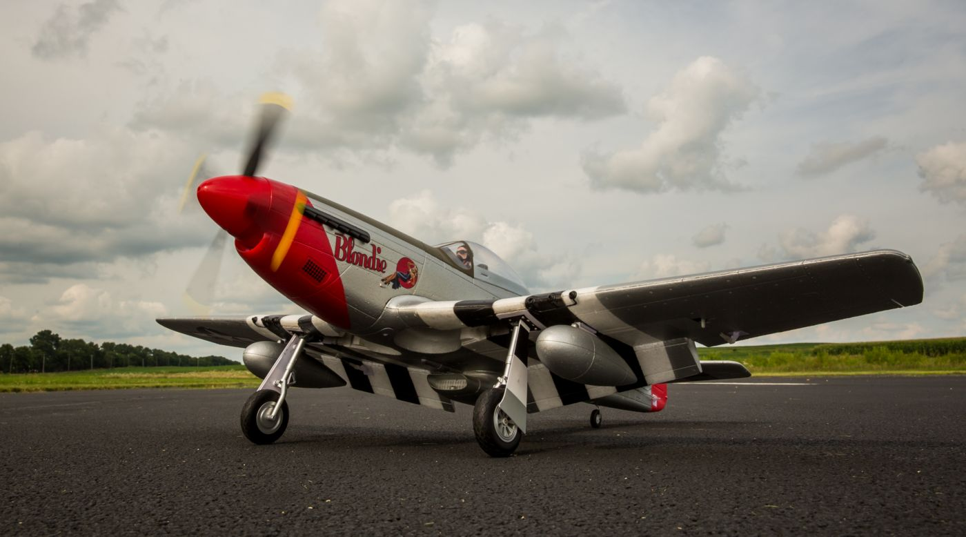 Image for P-51D Mustang 1.2m BNF Basic with AS3X from HorizonHobby