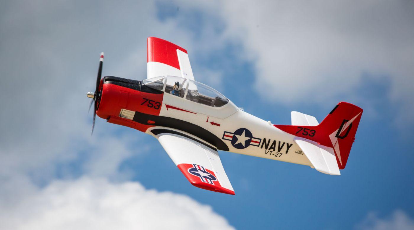 E Flite 174 T 28 Trojan 1 2m Bnf Basic Scale Warbird Rc