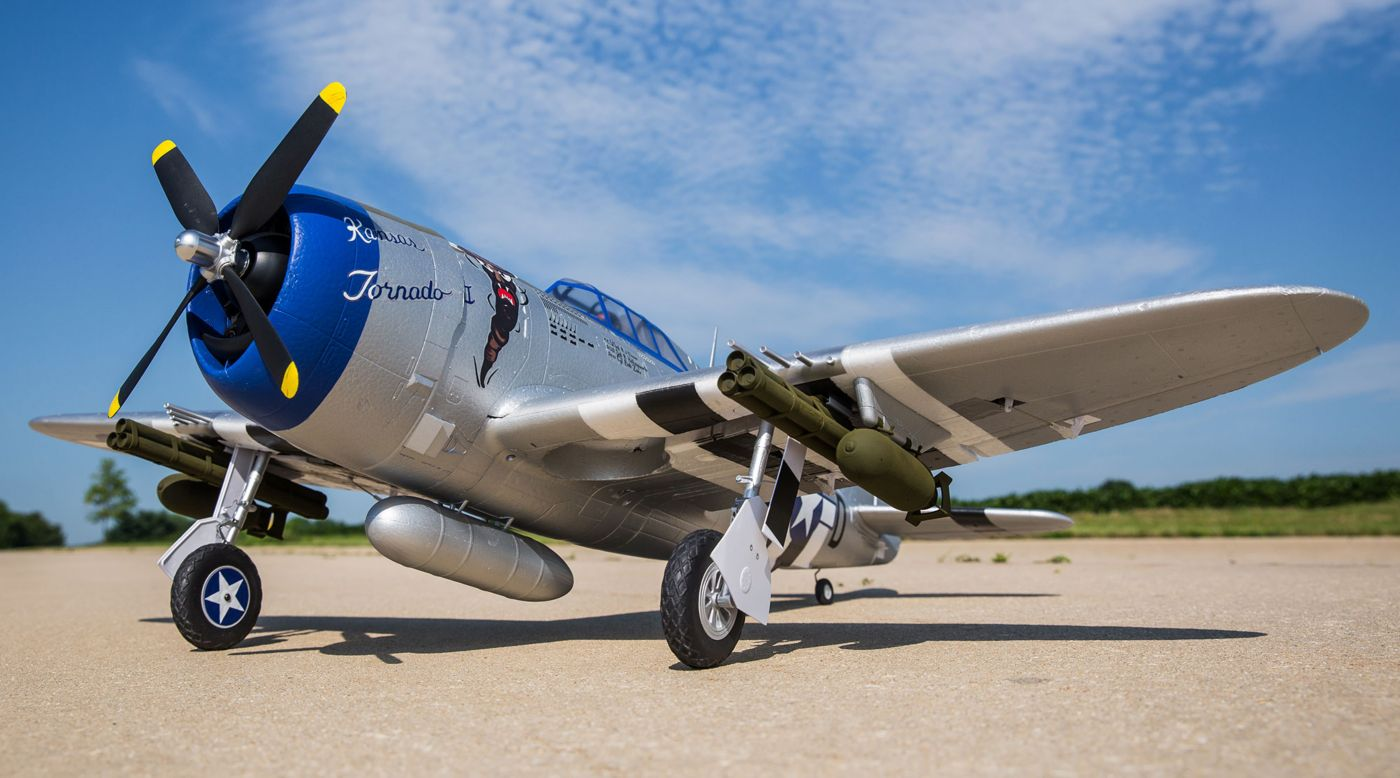 Image for P-47 Razorback 1.2m BNF Basic with AS3X and SAFE Select from Horizon Hobby